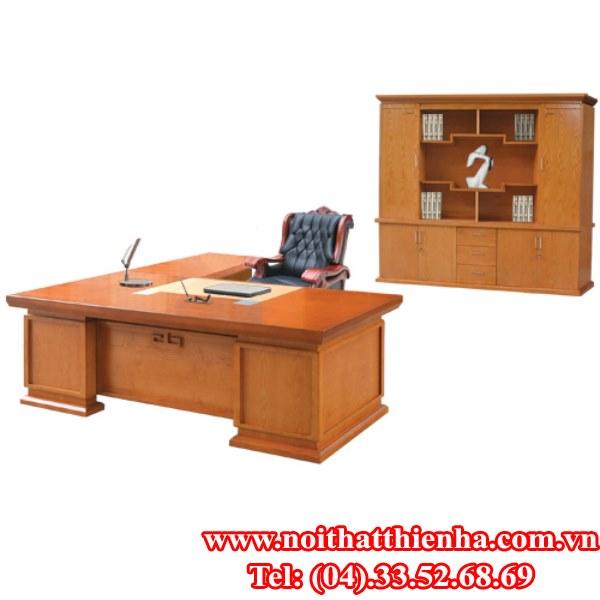 bộ bàn tủ lãnh đạo  hòa phát dt2411vm6,dc2448vm6