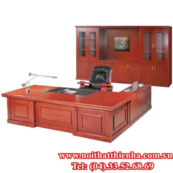 bộ bàn tủ lãnh đạo  hòa phát DT3012VM8, DC3242VM8